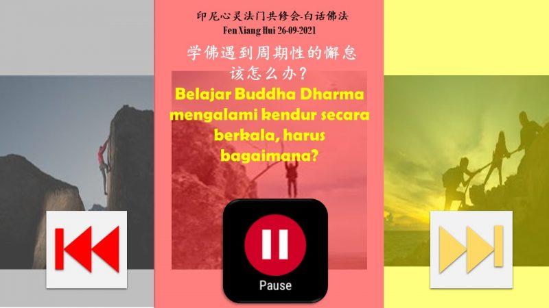 Belajar Buddha Dharma mengalami kendur secara berkala, harus bagaimana? 学佛遇到周期性的懈怠该怎么办?